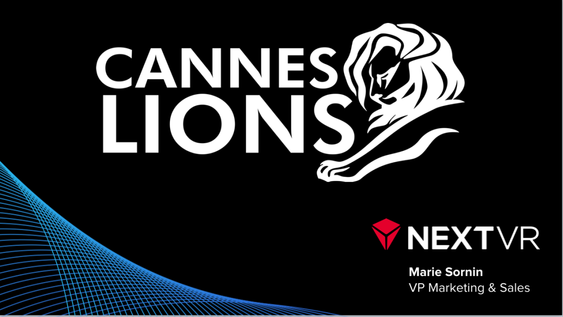 Cannes Lions 2018 interactive stage keynote
